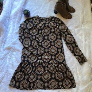 LOFT Medallion Print Dress Size S EUC